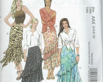 McCall's M5055 UNCUT Sewing Pattern / Women's Skirt / Sizes 4, 6, 8, and 10