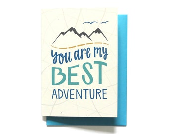 Love Card - I love you card - Love Card - You Are My Best Adventure - Anniversary Card - Valentine Card - Valentines Day Card - LV8