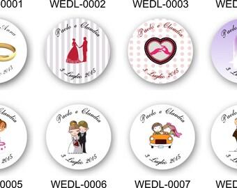 35 personalised envelope wedding sticker