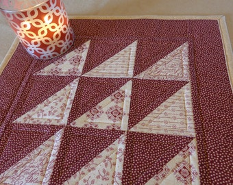 "Candle Mat, Quilted Candle Mat, Table Mat, Insulated Table Protector, ""Primitive Garden Candle Mat"" Ready to Ship!"