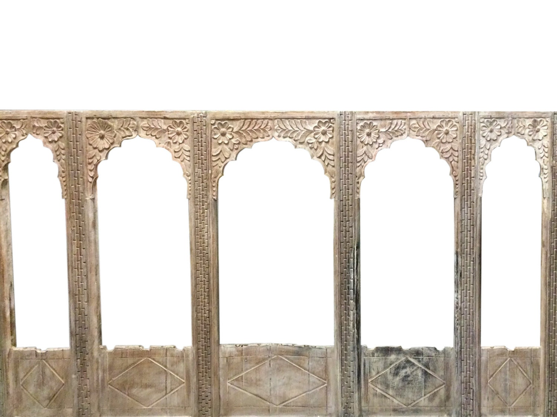 Antique Interior Entrance Solid Wood 5 Doors Arch Designs