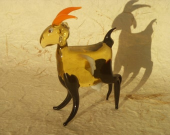 New Glass Goat Figurine Handmade - Astrological Symbol of the Year 2015.