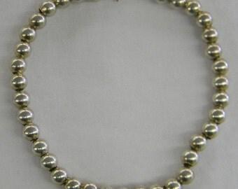 "Sterling Silver 925 Adorable Bead Bracelet, 7"" Long #6200"