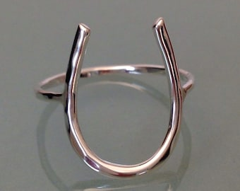 Sterling Silver Horse shoe ring, Horse shoe ring, good luck ring, horse ring, statement ring, cowboy ring, lucky ring, good luck jewelry