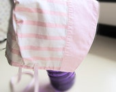 Vintage Fabric Baby Bonnet, Pink Stripe Baby Bonnet, Upcycled Bonnet, Easter Bonnet, Baby Sun Hat, Spring Bonnet, Bon1