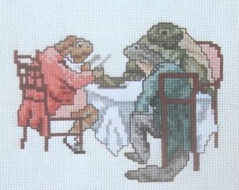 cross stitch beatrix potter mr jeremy fisher isaac newton  CHART INSTRUCTIONS ONLY lakeland artist new
