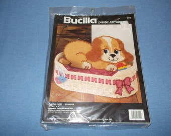"Bucilla Plastic Canvas Kit ""Playful Puppy Doorstopper"" #6112"