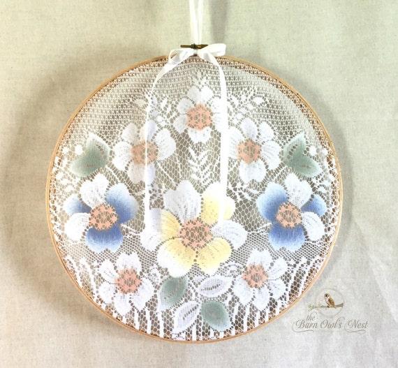 Lace hoop art earring holder organizer by