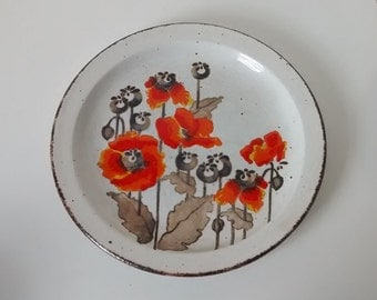 Midwinter Stonehenge Autumn Salad Plate with Poppies. 22cm