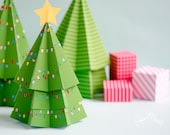 DIY Christmas Decor, Christmas Tree Favor Box, Holiday Tree, Treat Box, Holiday Centerpiece, Holiday Decor, Christmas Decoration Paper Craft