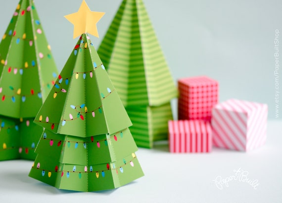 diy christmas decor christmas tree favor box holiday tree treat box holiday centerpiece holiday decor christmas decoration paper craft - Christmas Tree Box