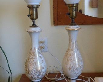 Paul Hanson Table Lamps pair