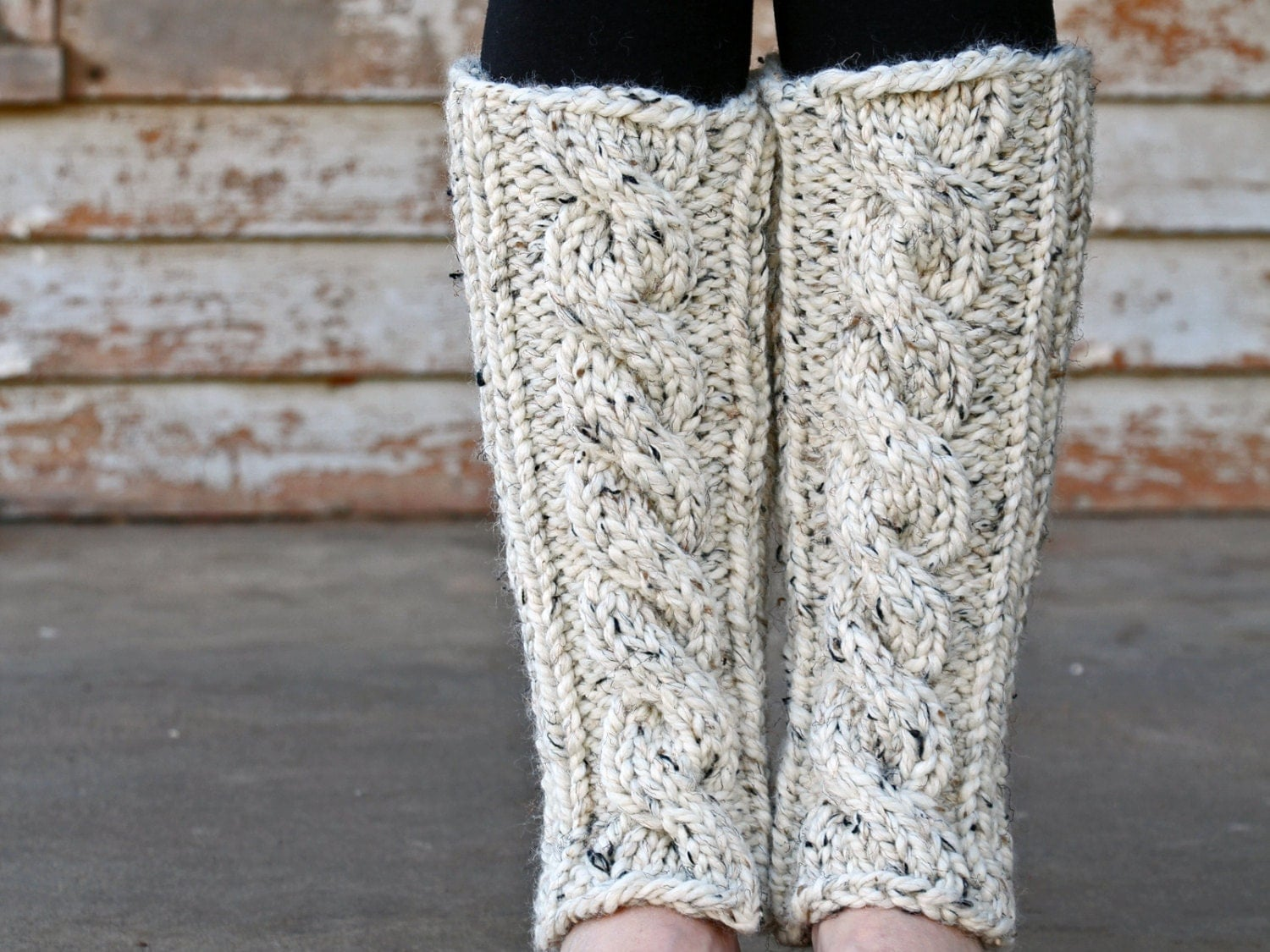 Knitting Pattern Leg Warmers Bulky Yarn : Cable Knit Leg Warmers Knitting PATTERN INVENTIVENESS a