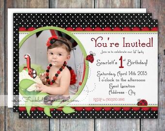 Lil' Lady Ladybug Birthday Invitation