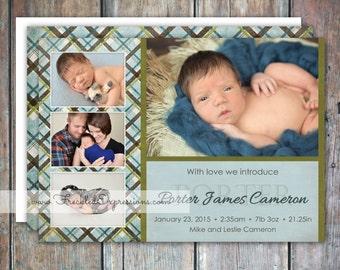 Baby Boy Birth Announcement - Porter
