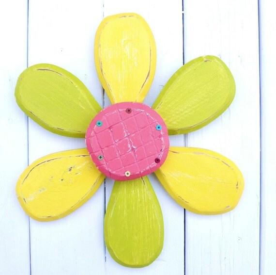 Summer Outdoor Wall Decor : Spring wreath pink lemonade wall decor yard by salvageandbloom