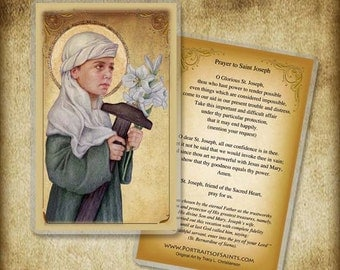 St. Joseph the Child Holy Card or Wood Magnet  #0180