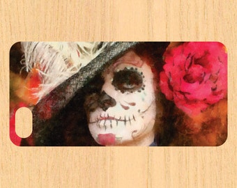 Day of The Dead Girl Version 107 Watercolor Art  iPhone 4/4S 5/5C 6/6+ Case and Samsung Galaxy S3/S4/S5