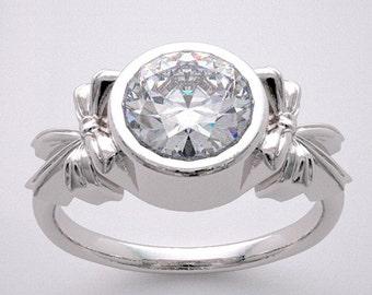 14K Knot Design Engagement Ring Setting