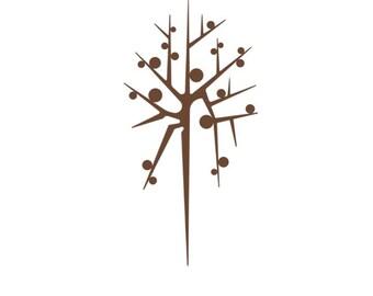 Mid Century Modern Tree Print