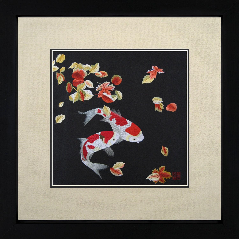 King Silk Art 100% Handmade Embroidery Japanese by KingSilkArt : Oriental Wall Art For Kids