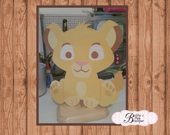 Lion King Baby Shower DIY Centerpiece Cut Outs