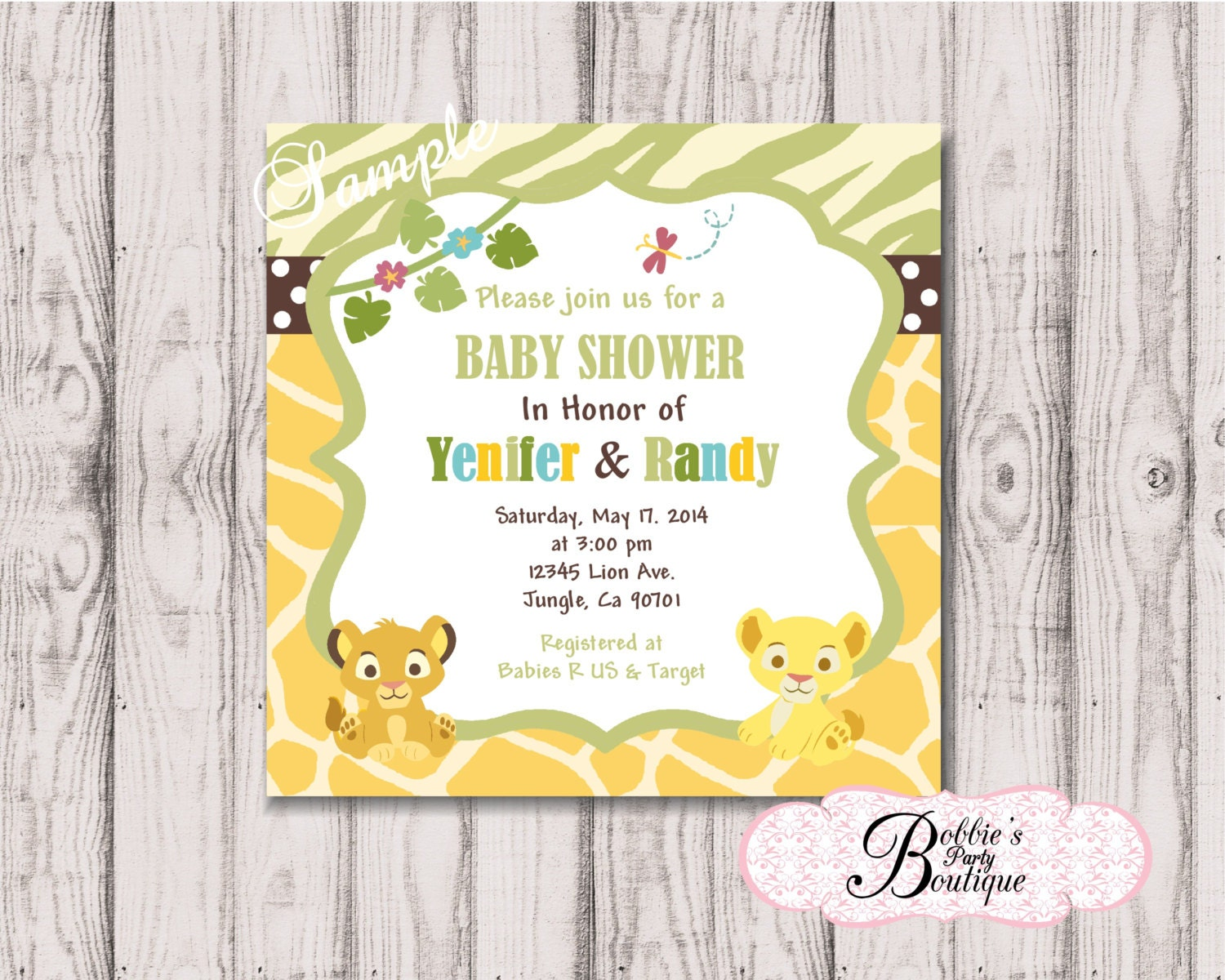 It's just an image of Priceless Printable Lion King Baby Shower Invitations