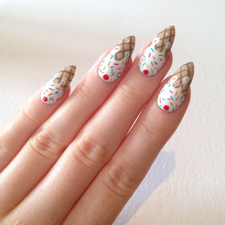Nail Cream: Ice Cream Stiletto Nails Nail Designs Nail By