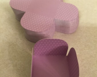 25 Light Purple Polka Cake Ball or Cake Pop, Candy Truffle Papers.