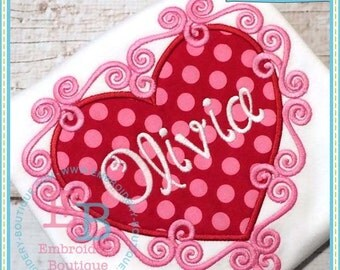 Valentine Heart Applique, Girls Valentine Shirt, Girls Valentine Applique, Girls Valentine outfit, Girls Valentine Personalized