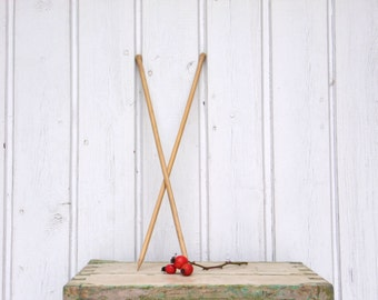 Vintage Natural Wood Knitting Needle