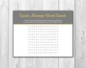 Funny Pregnancy Announcement - 4 Cards with Envelopes - Word Search