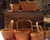 Picnic Baskets to make table centerpieces assorted set of 6 country picnics rustic wedding rehearsal dinner backyard cookout or barbecue