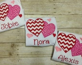 Personalized Girls Valentine's Day Heart Shirt/ Monogrammed Heart Shirt/ Girls Valentine's Day Shirt/ Monogrammed Valentine Shirt