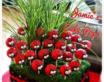 Ladybug / Lady Bug Cake pops