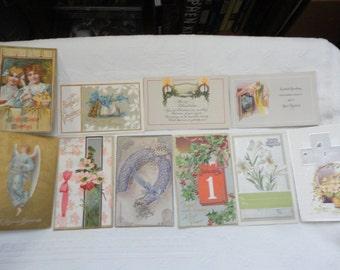 Antique Postcards Lot Of Ten