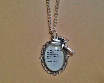 Peter Pan Quote Necklace - Handmade Unique