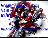 Big Homecoming Ribbon MUM Hair Bow Mums Made to Order School Cheerleader Bow Prom Spirit