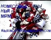 Big Homecoming Ribbon MUM Hair Bow Mums Made to Order School Cheerleader Bow Prom Spirit