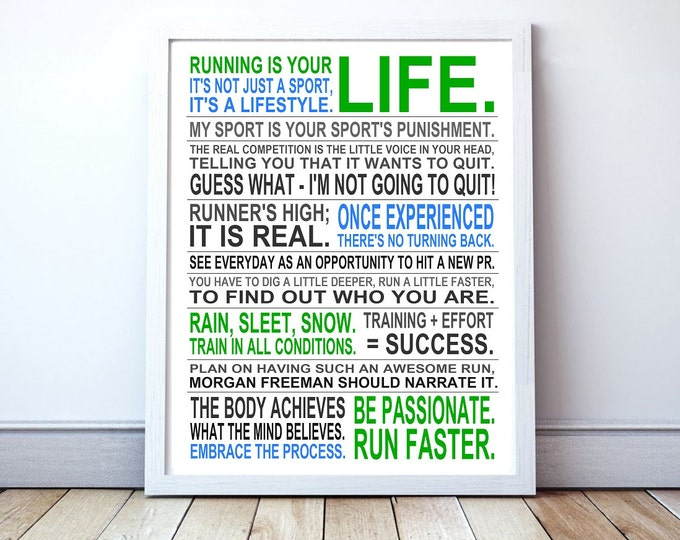 Running Is Your Life - Custom Manifesto Poster Print