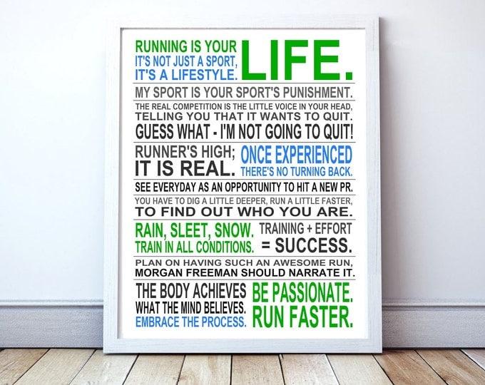 Running Is Your Life - Custom Manifesto Poster Print