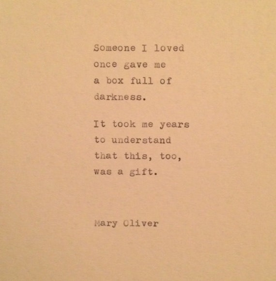 Mary Oliver Love Quotes Extraordinary Mary Oliver Quote Typed On Typewriter