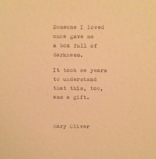 Mary Oliver Love Quotes: Mary Oliver Quote Typed On Typewriter