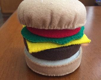 Felt Hamburger Play Set- Eco Friendly Felt