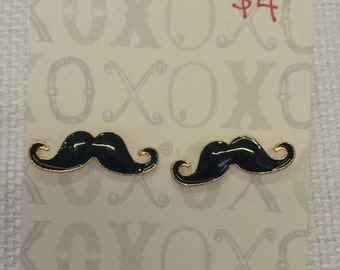 Dapper Mustache Earrings