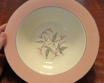 "HOMER LAUGHLIN 9 5/8"" Serving Bowl Cavalier Eggshell - Made in the USA"