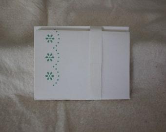 Green Flower/Dot Card Set