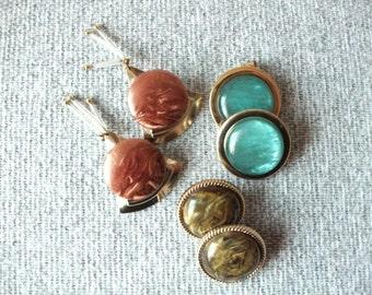 Vintage 1980's earrings- Lot of 3 pairs