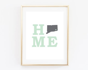 Customized Home State Print