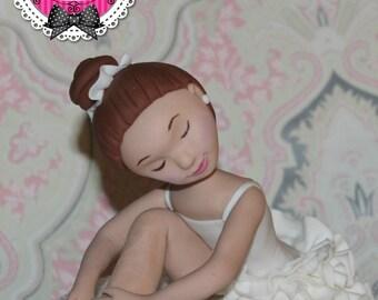 Ballerina fondant cake topper